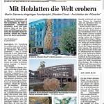wooden cloud in der Saarbrücker Zeitung